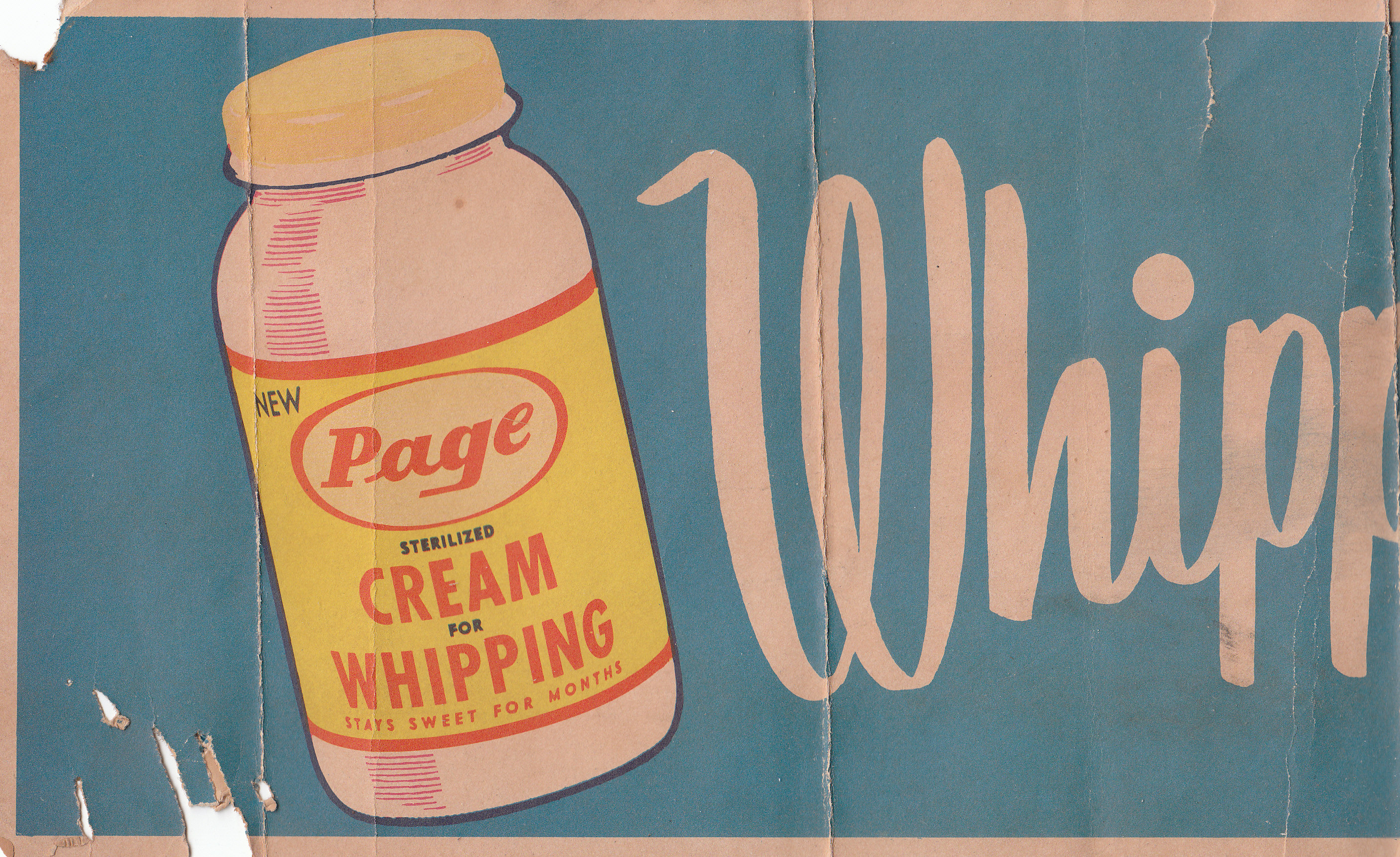 Page Dairy Whipping Cream Advertisement