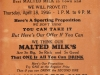 Advertisement for Malted Milk at the Amprim Soda Grill, Rockwood, MI - April, 1946