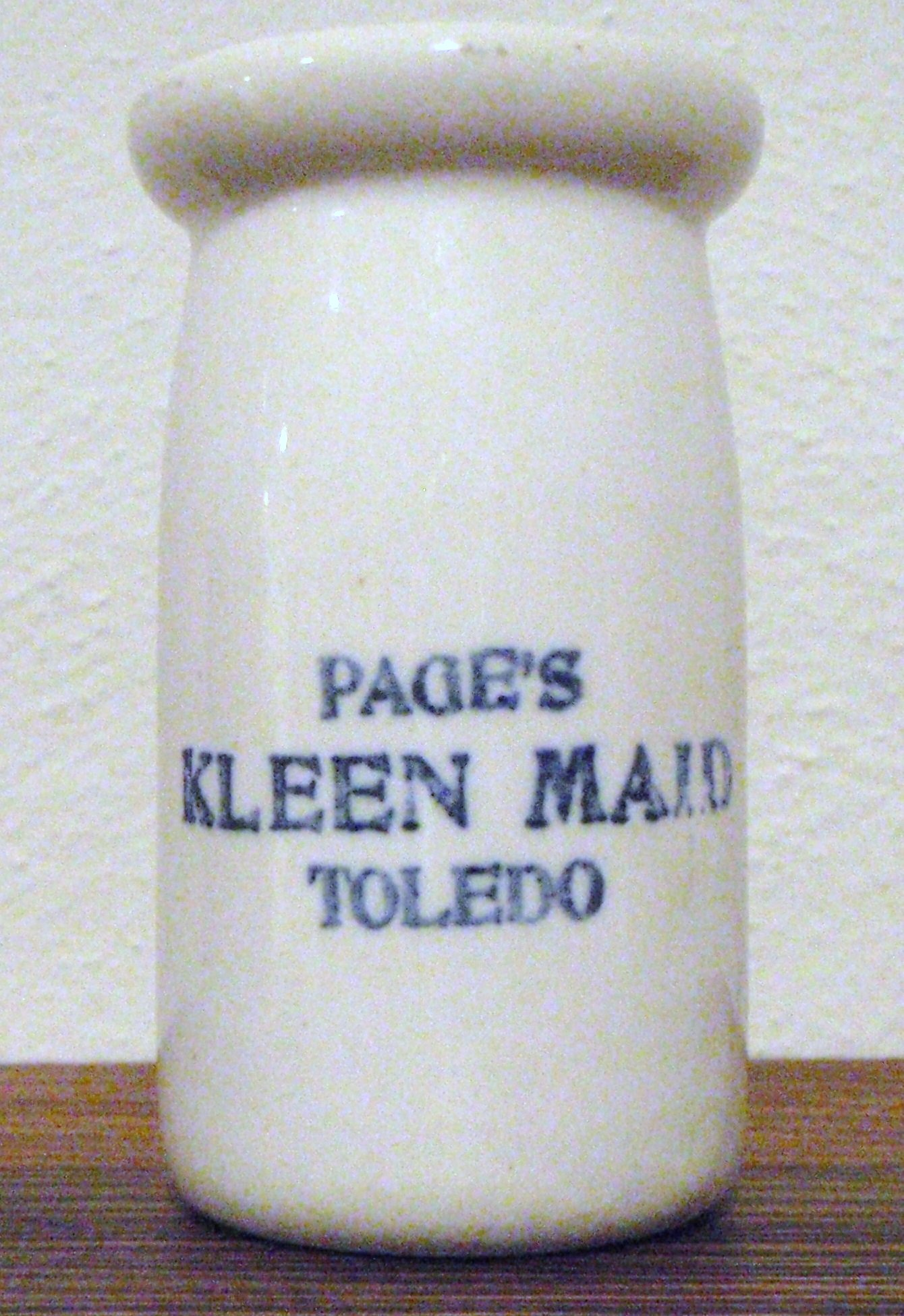 Page\'s Kleen-Maid White Cream Jar