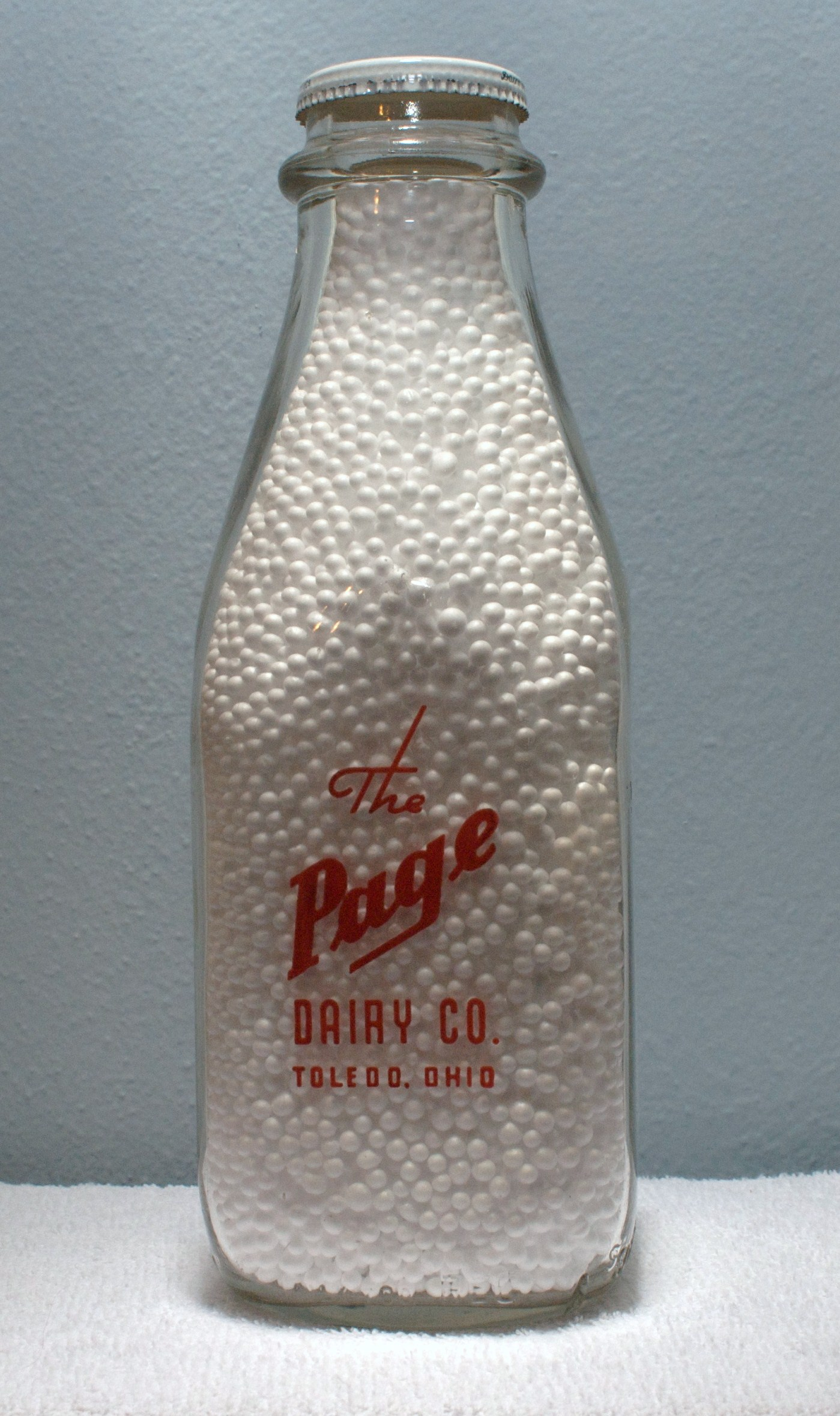 Pages Square Quart Bottle  1950s New Logo