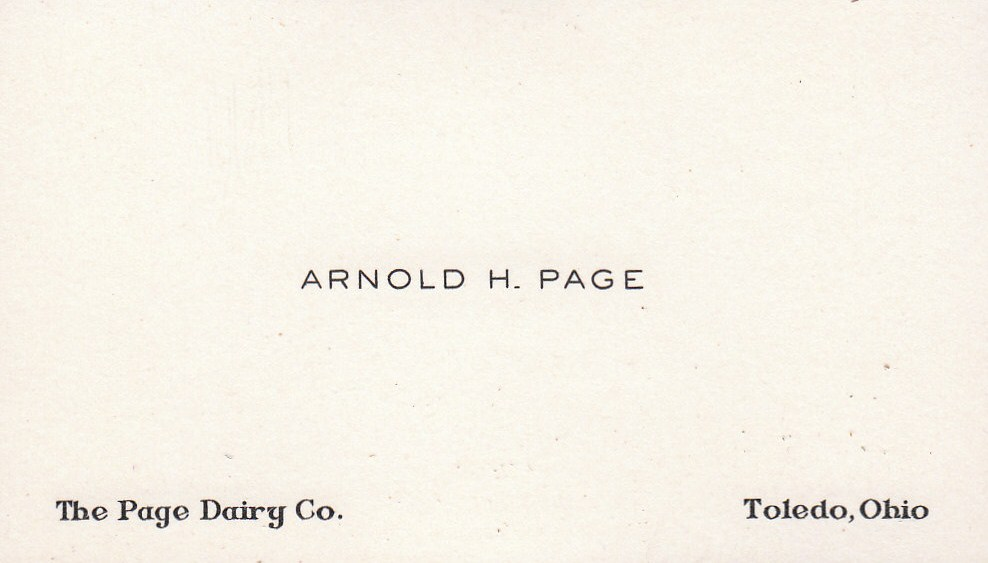Arnold H. Page Business Card
