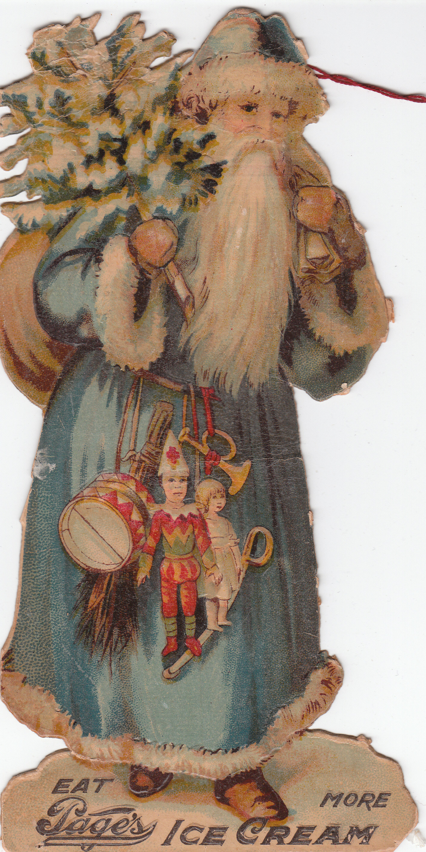 Father Christmas Page's Ice Cream Ornament