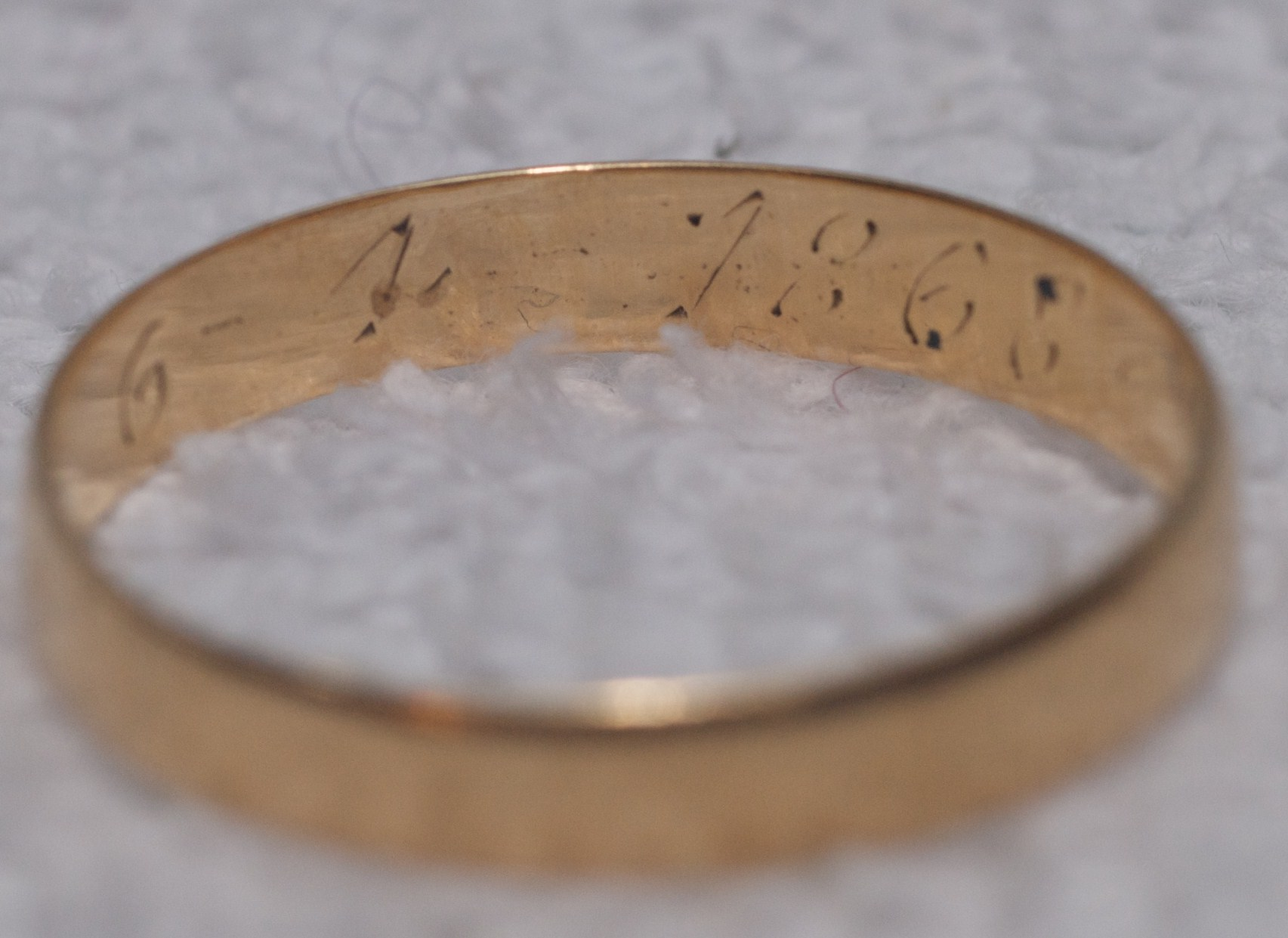 Grandpa\'s Wedding Ring inscription