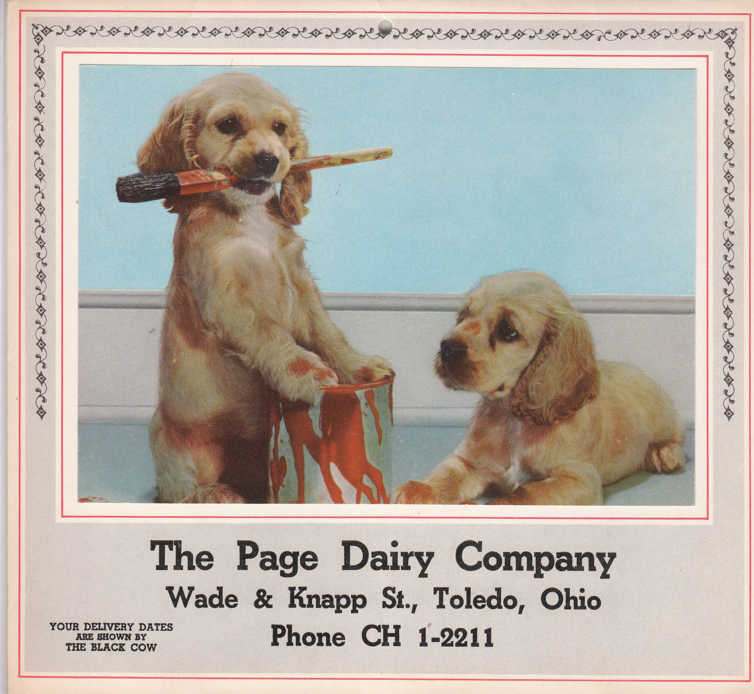 Page Dairy Calendar 1959