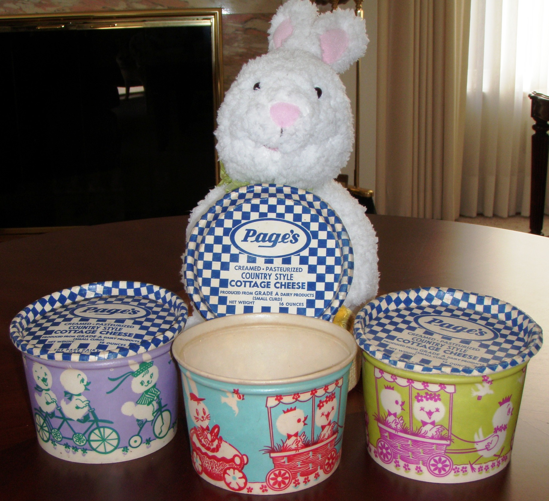 Page Dairy Easter Cottage Cheese Containers