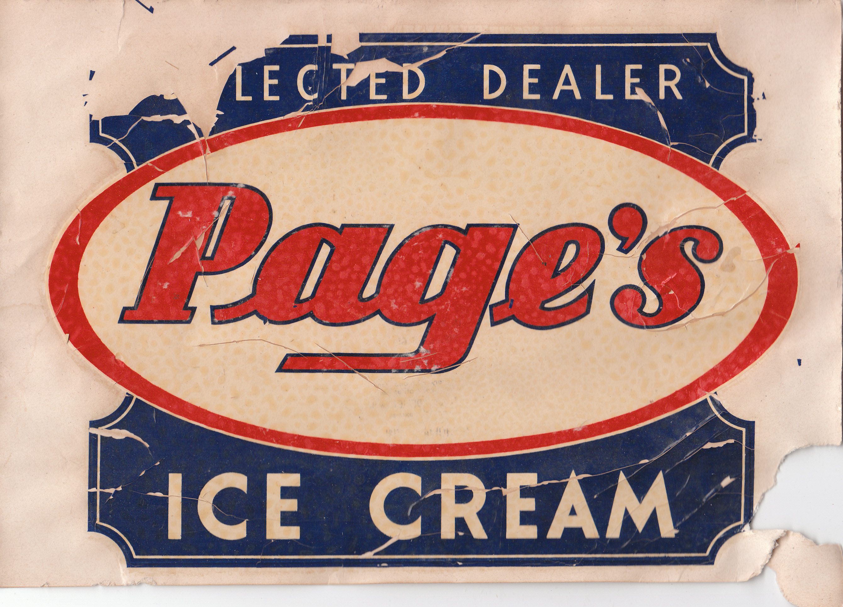 Page Dairy Ice Cream Sticker