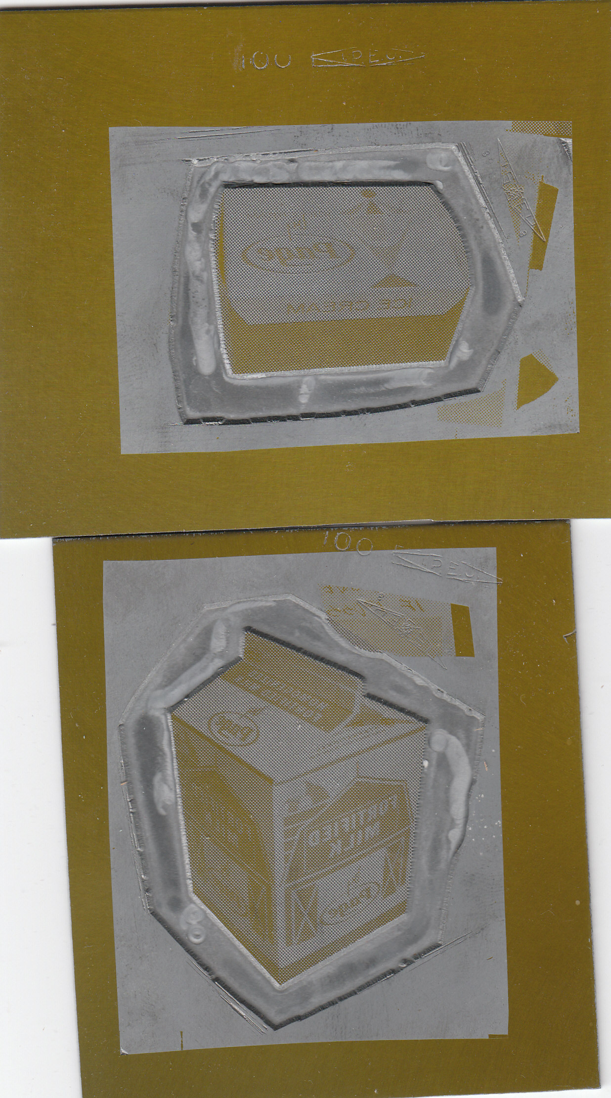 Page Dairy Ice Cream and Milk Printing Plates