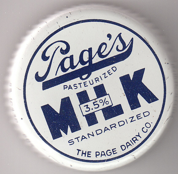 Page Dairy Metal Milk Cap - Blue