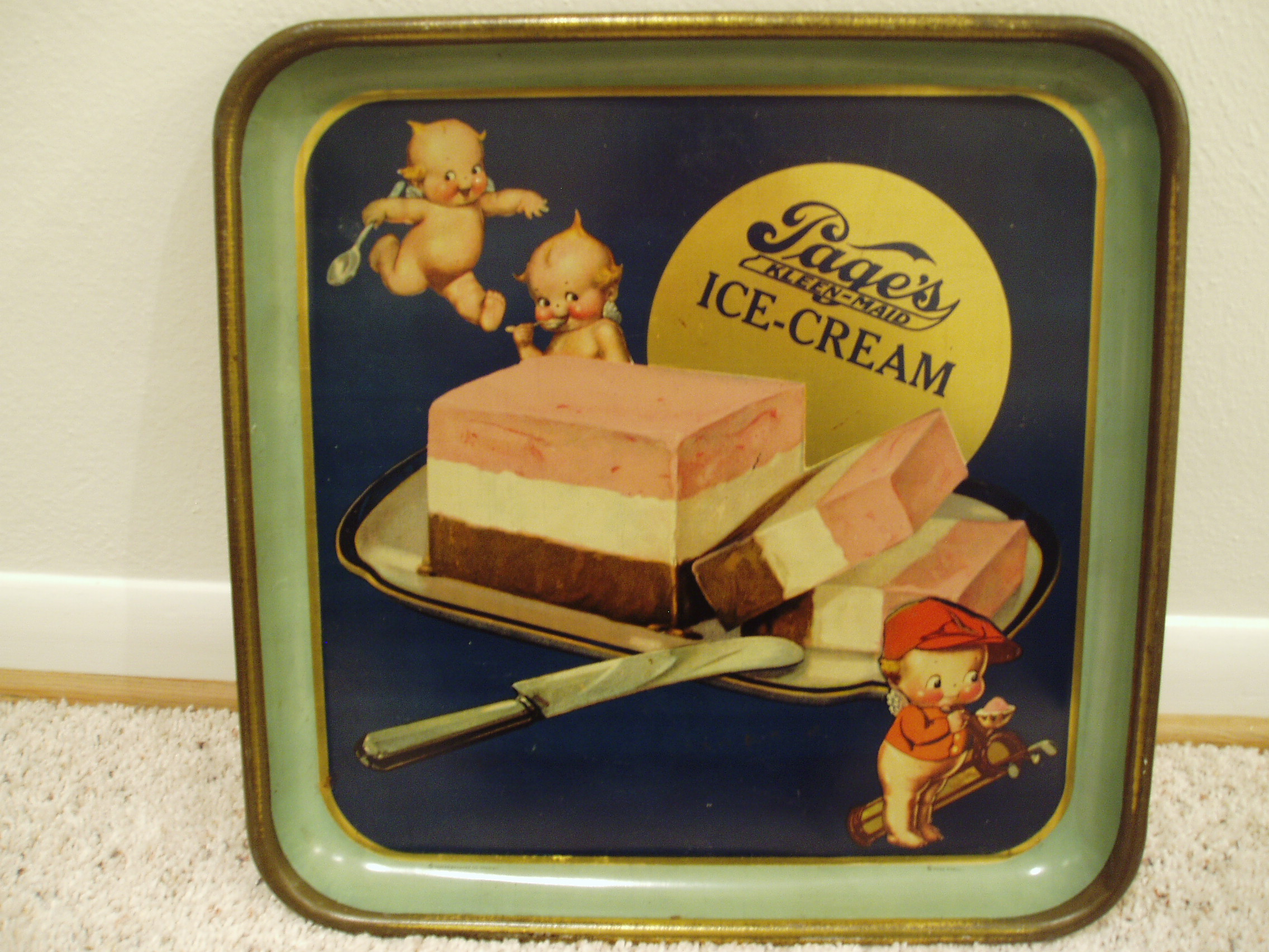 Page Dairy Neopolitan Ice Cream Tray
