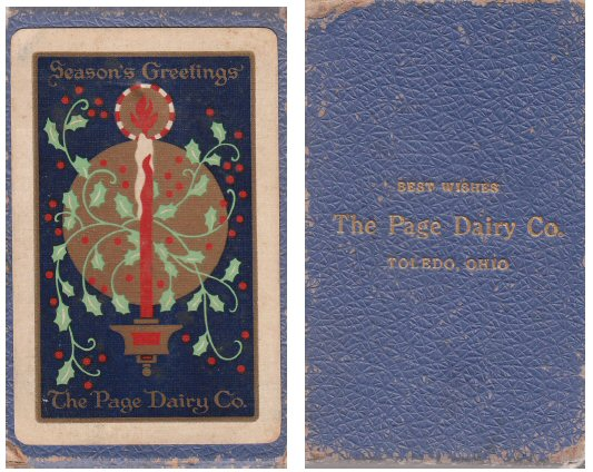 Page Dairy Playing Cards - Blue