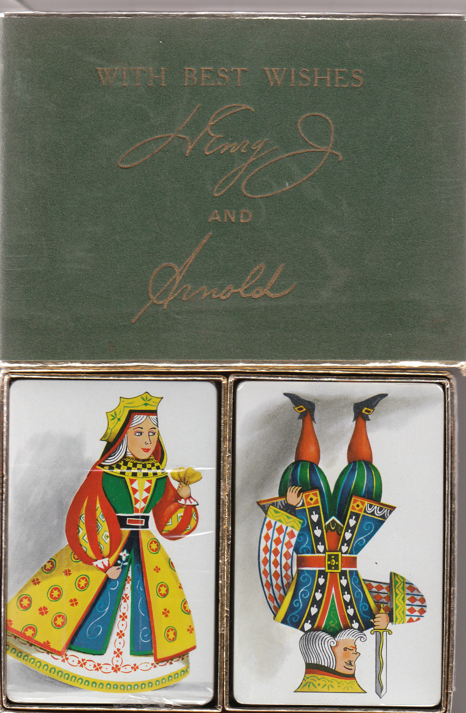 Page Dairy Playing Cards - Green Case (2)