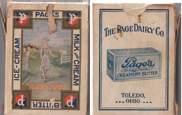 Page Dairy Playing Cards - Milk Maid