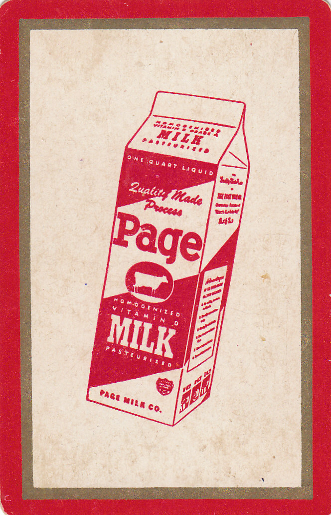 Page Dairy Playing Cards - Red-white in Box