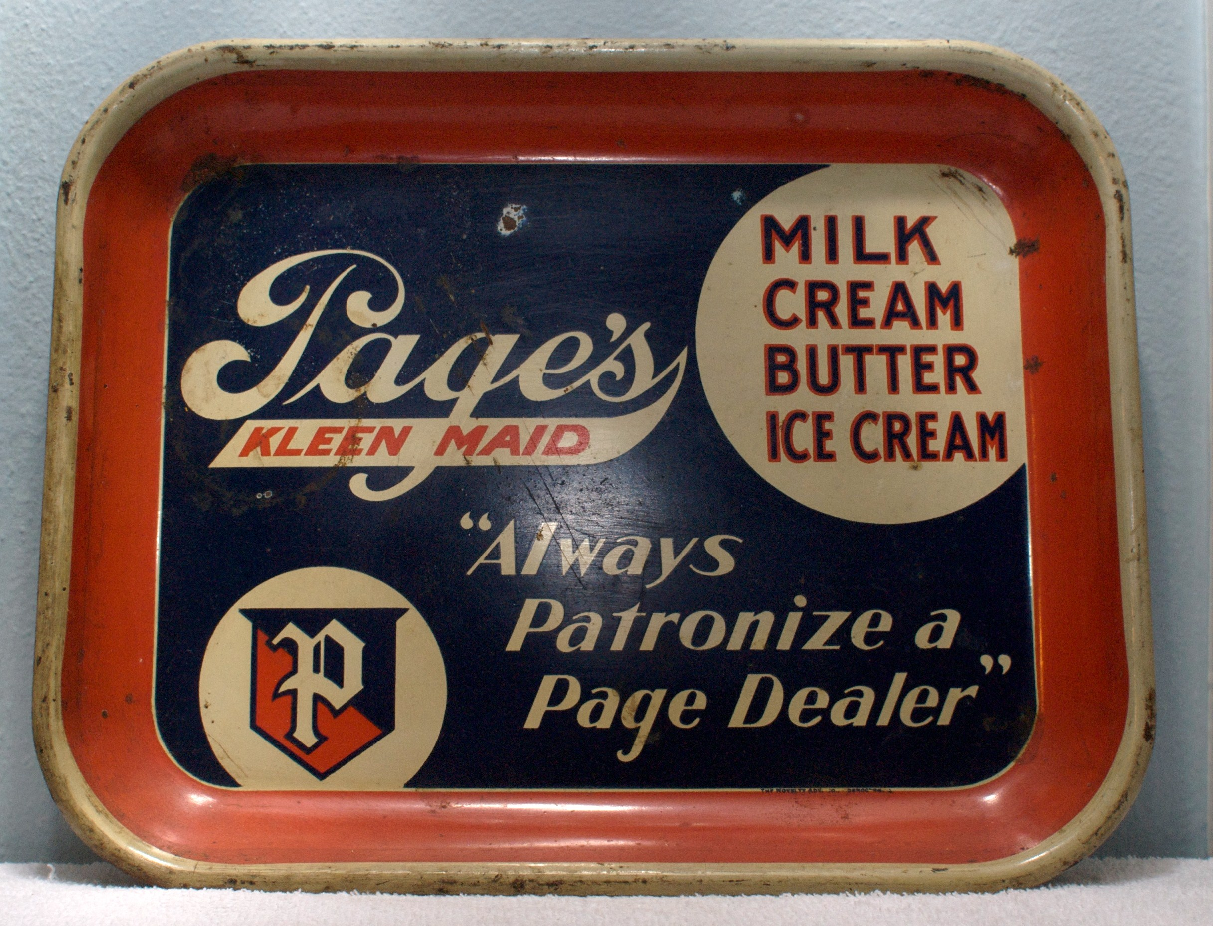 Page Dairy Rectangular Tray