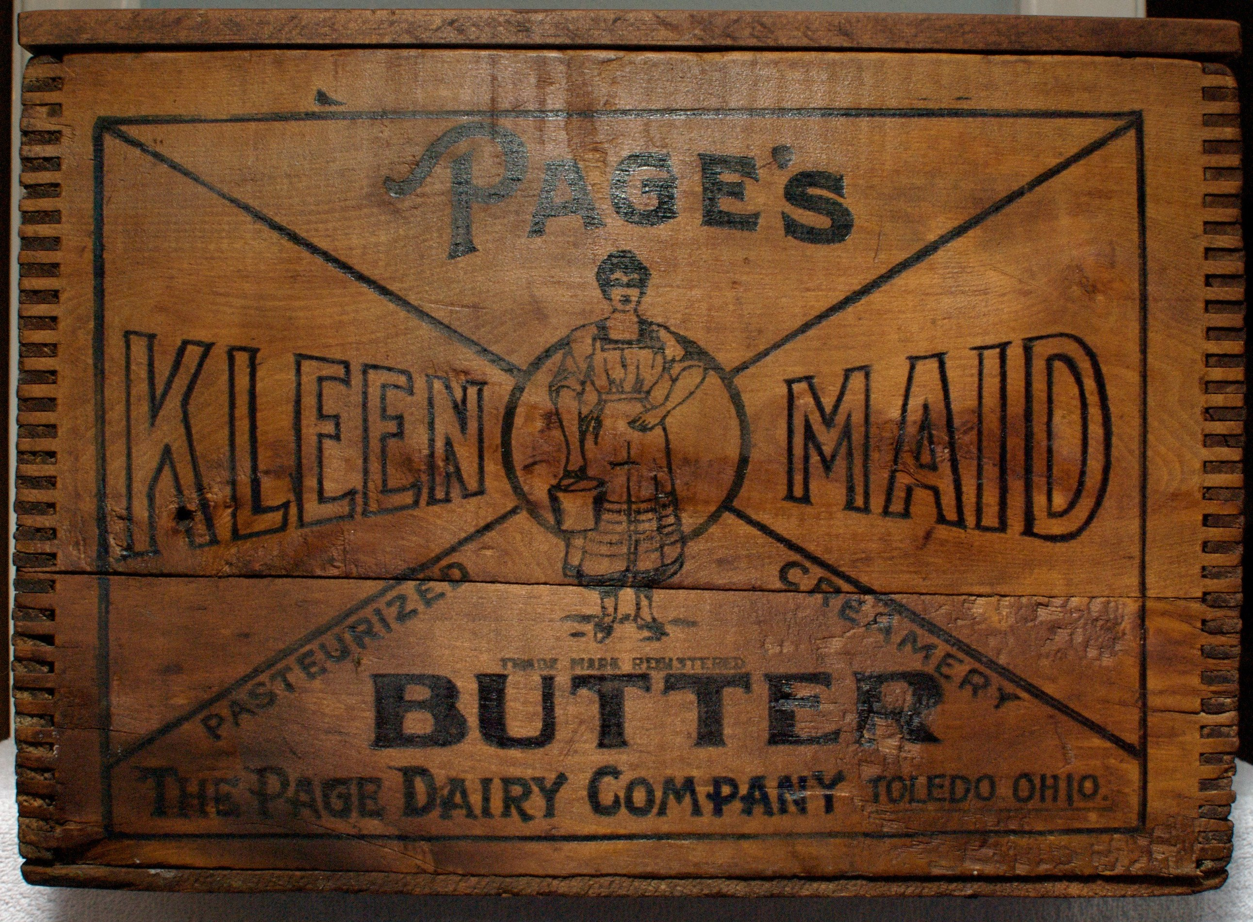 Page Dairy Wooden Butter Box