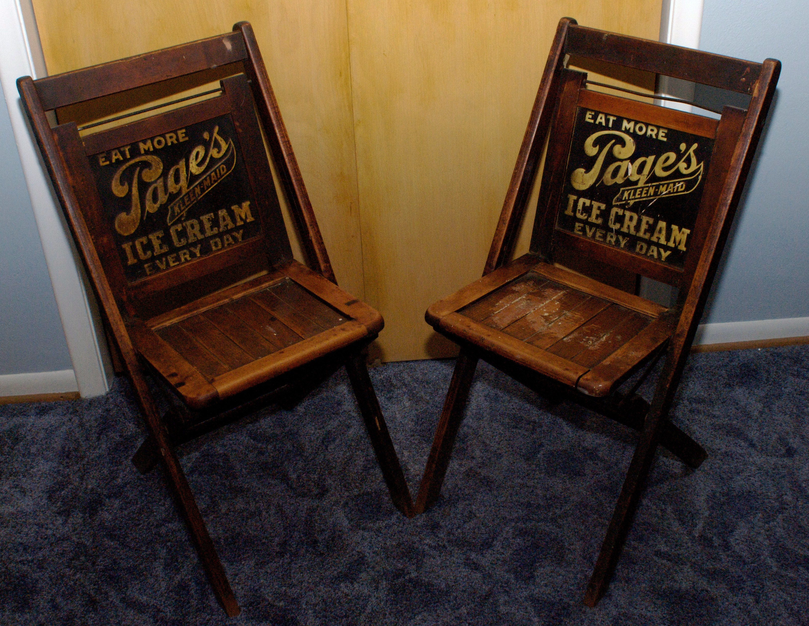 Page Dairy Wooden Chairs