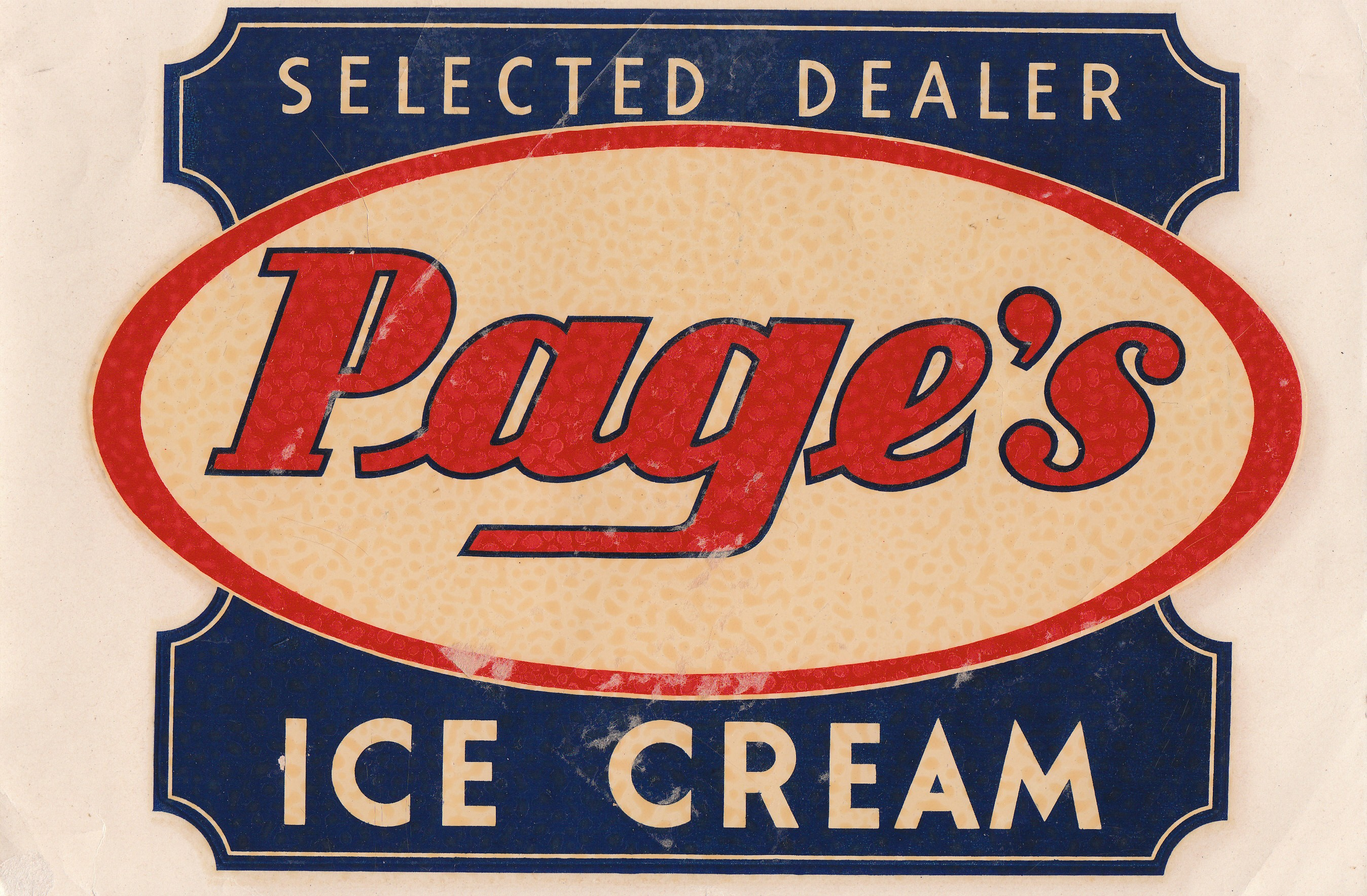 Pages Ice Cream Logo