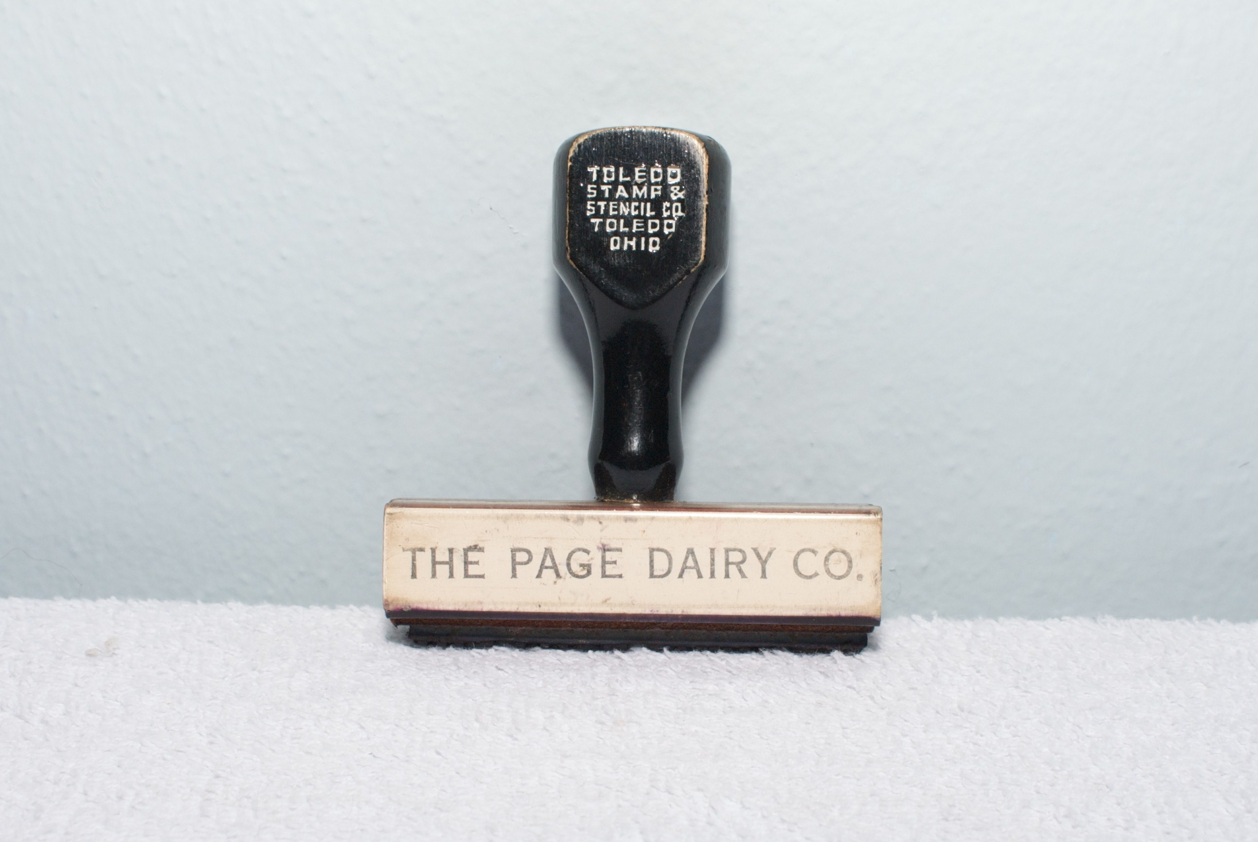 The Page Dairy Co stamp