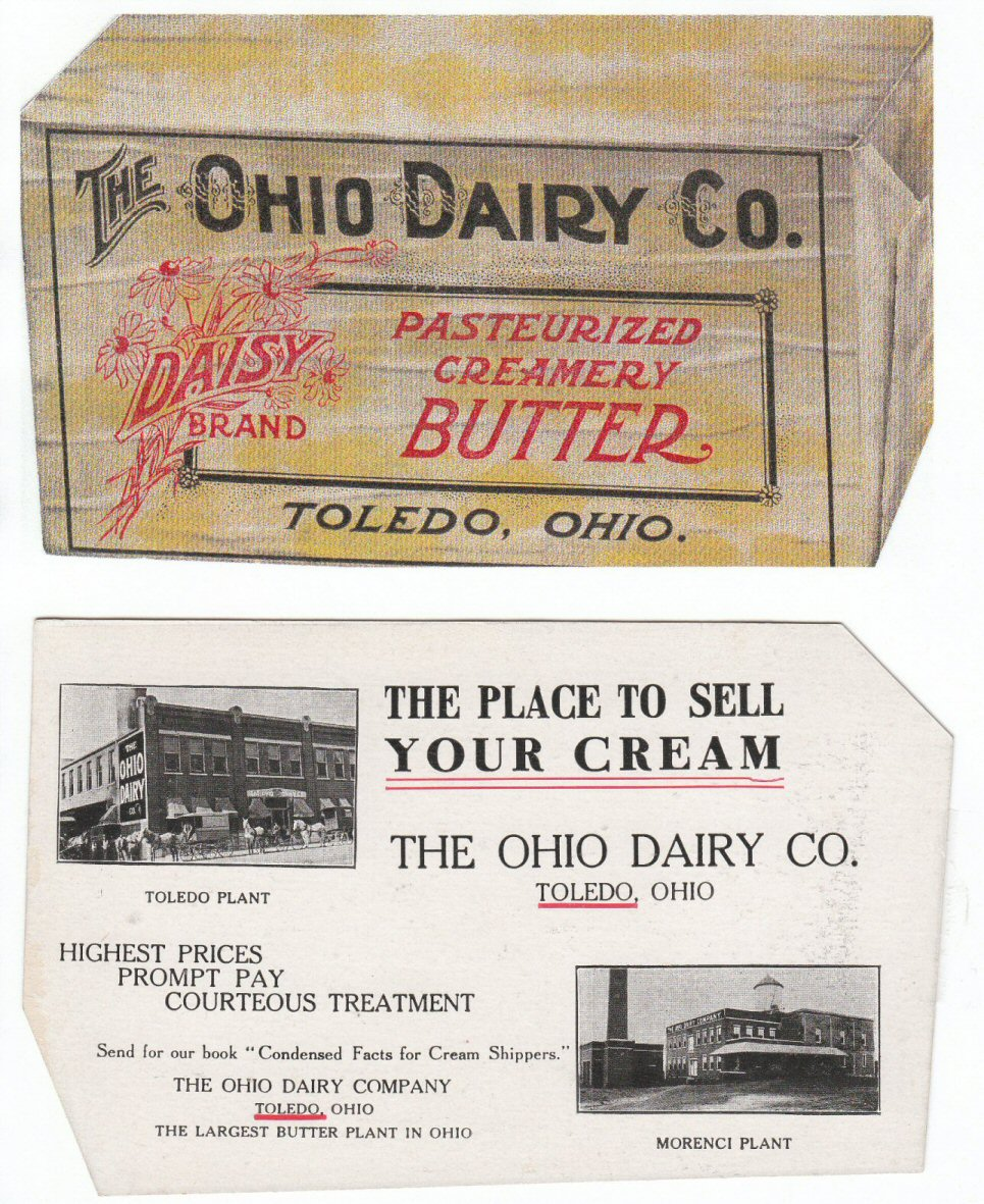 Ohio Dairy Daisy Brand Butter Postcard