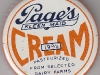Page Dairy Metal Cream Cap - Orange