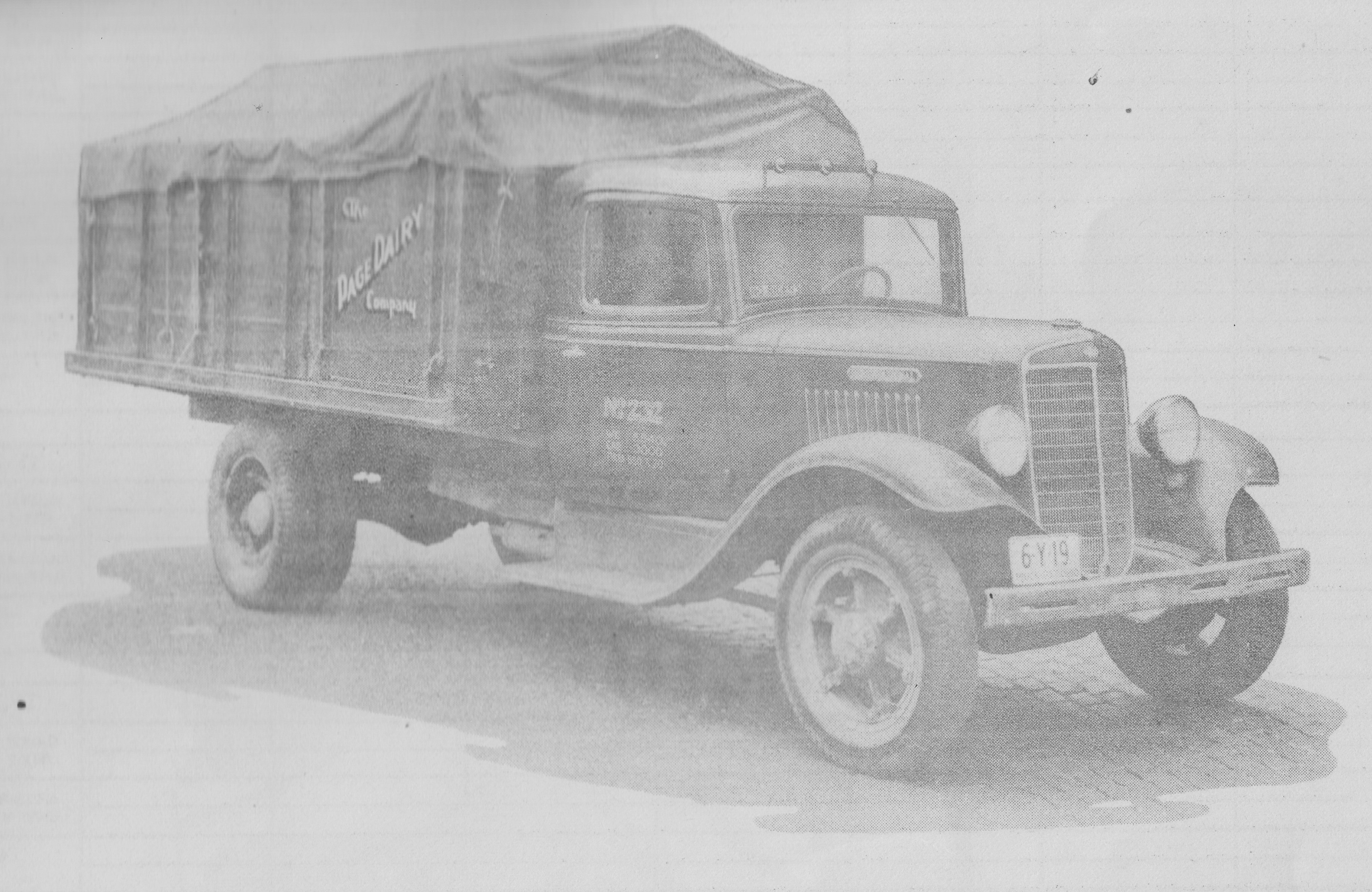Page Dairy Truck