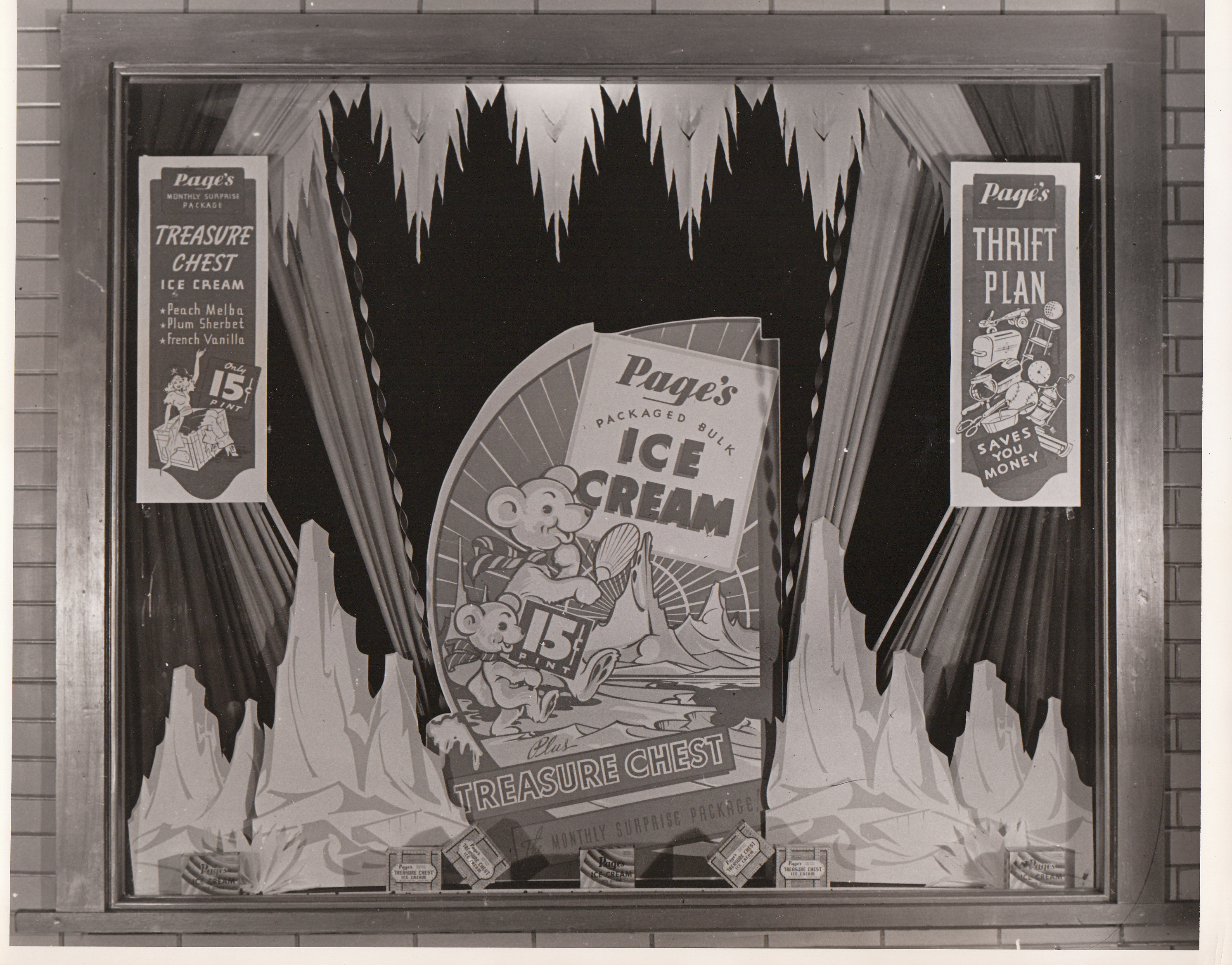 Page Ice Cream Display Window Ads