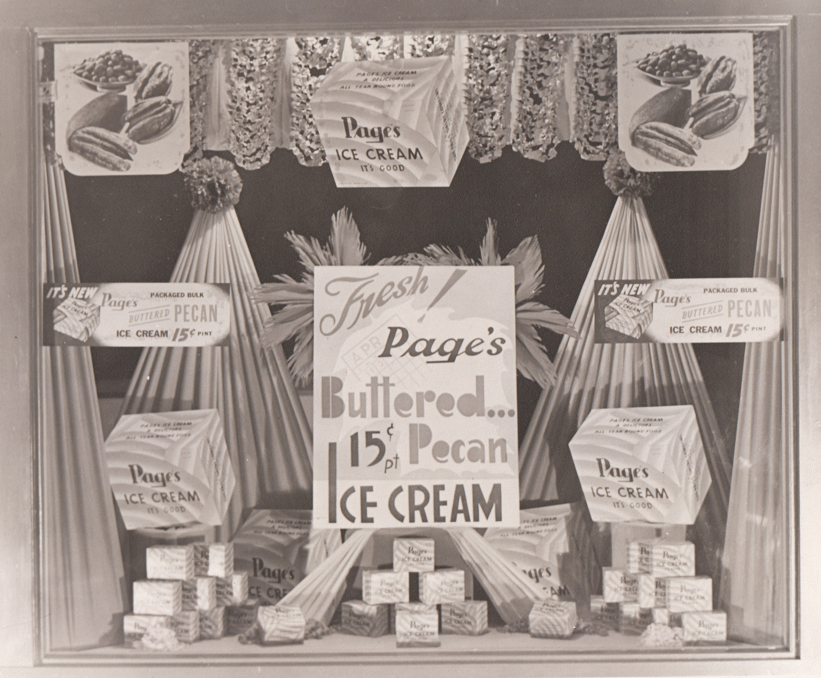 Page Ice Cream Display Window