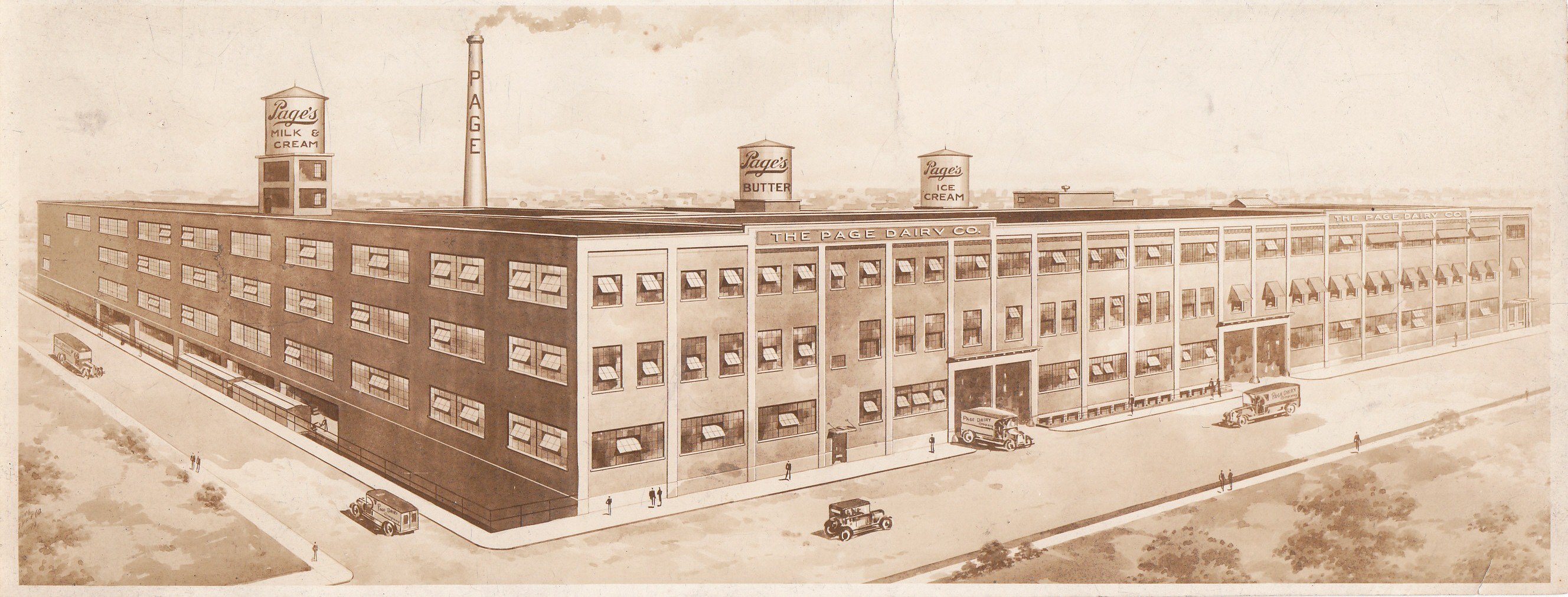 Photograph of Pencil Drawing of Page Dairy Plant - Toledo